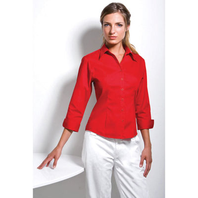 Image of Kustom Kit Ladies Three Quarter Sleeve Premium Shirt