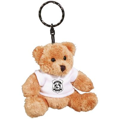 Image of Robbie Bear Keyring with White T Shirt