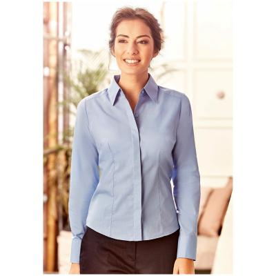 Image of Ladies Long Sleeve Poplin Shirt