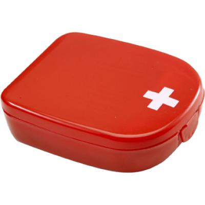 Image of First aid kit in plastic case