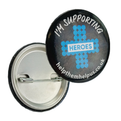 Image of Heroes 38mm Round Button Badge